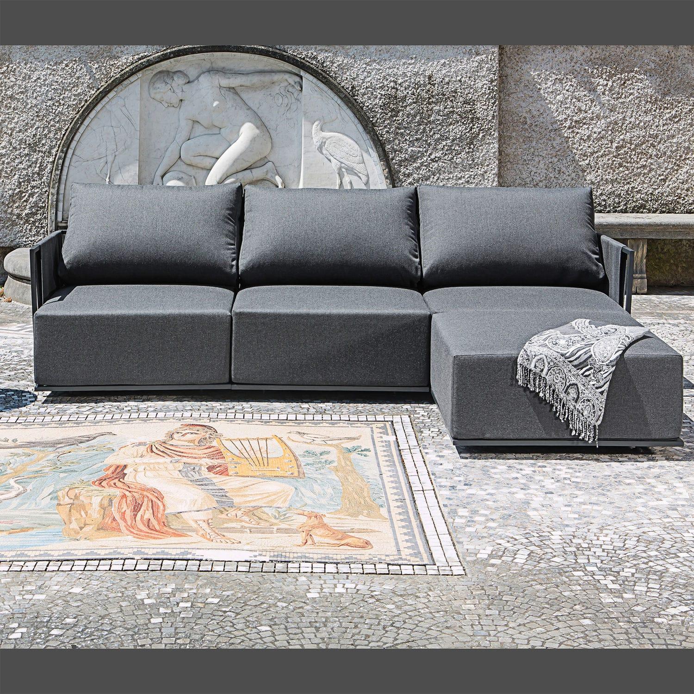 Contemporary Lounge Garden Set Sunbrella Home With