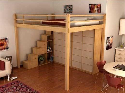 Letto A Soppalco.Loft Bed Letto A Soppalco Yen Cinius Double Contemporary