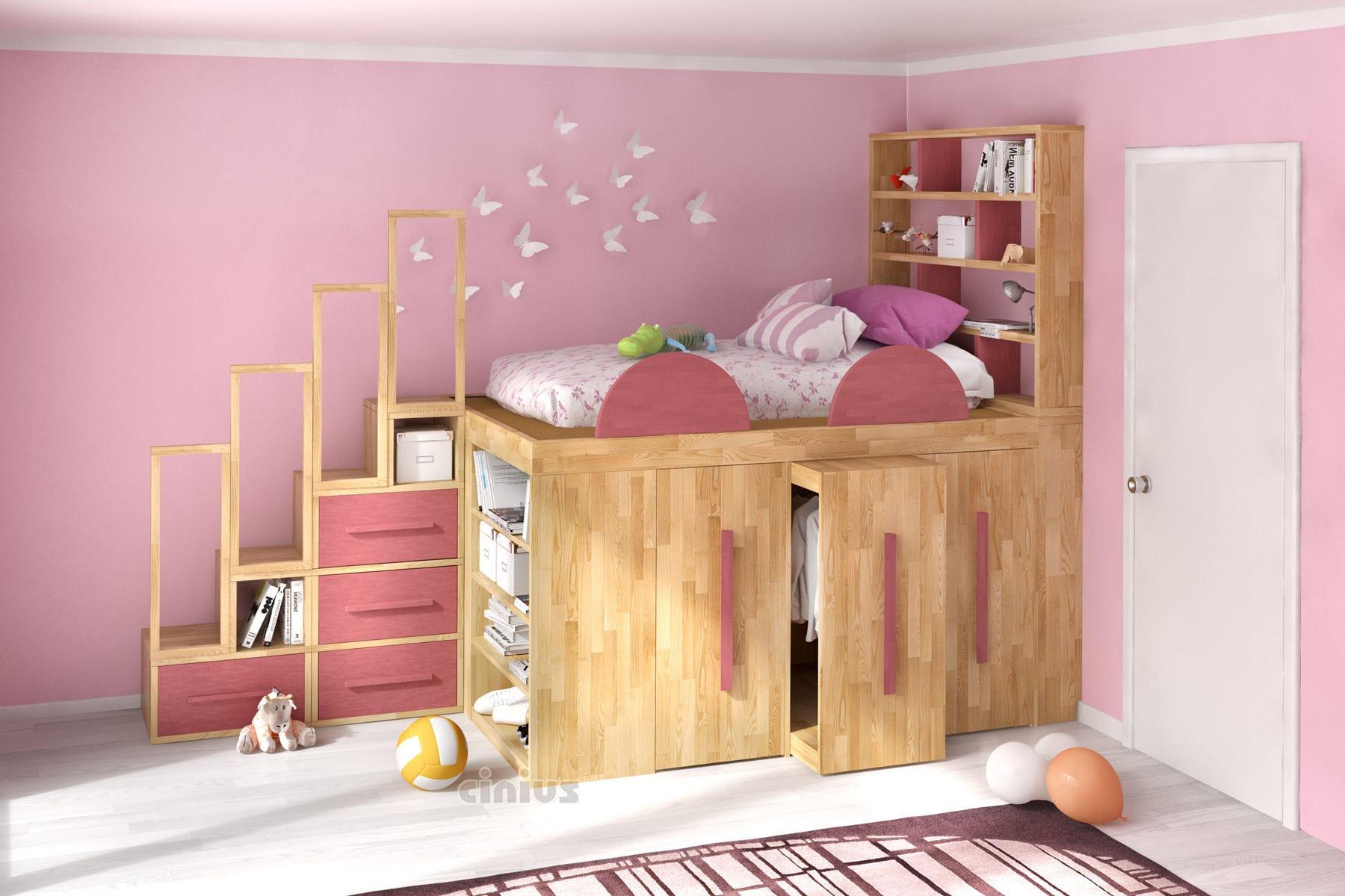 Letto Impero.Loft Bed Impero Young Cinius Single Contemporary With Shelf
