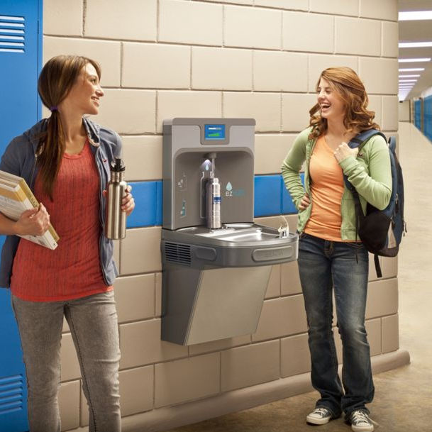 Cold water dispenser / for public spaces - LZSTL8WSLP - Elkay