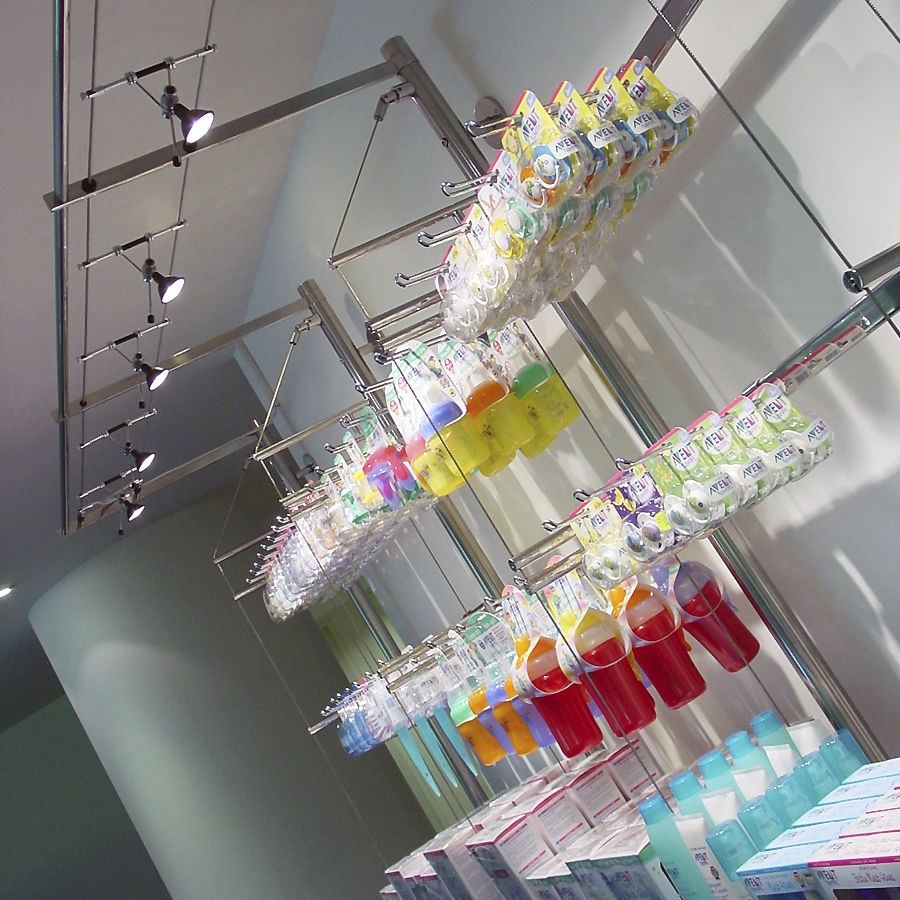 Wall Mounted Shelf Contemporary Glass For Shops