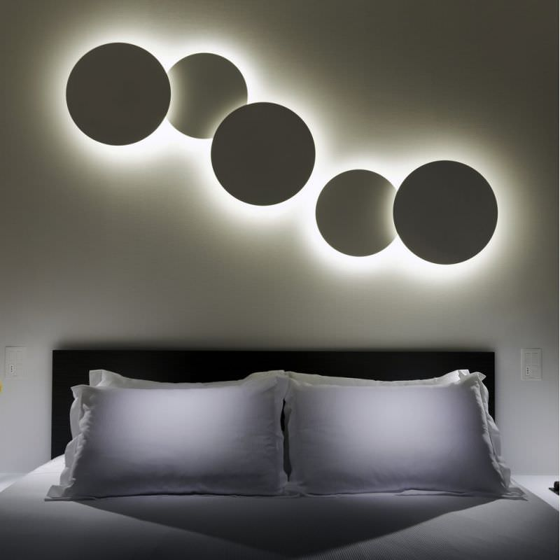 Contemporary Wall Light Methacrylate Abs Fluorescent Puck Art By Jordi Vilardell