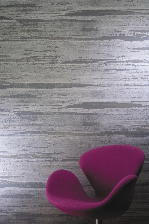 Contemporary Wallpaper Vinyl Plain Metal Look Weathered Metals Ii