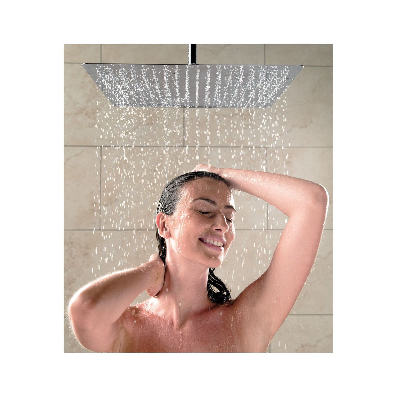 Ceiling Mounted Shower Head Square Rain Tetra 450