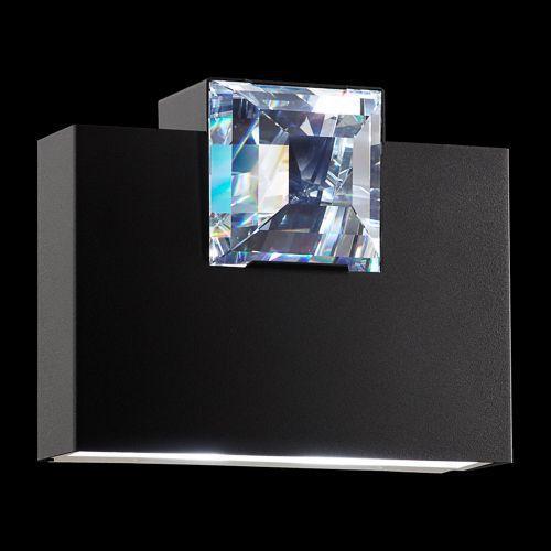 Contemporary Wall Light Metal Swarovski Crystal Led