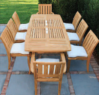 Set Tavolo Giardino Legno.Traditional Table And Chair Set Ipanema Kingsley Bate Wooden