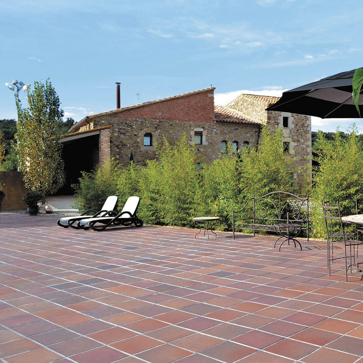 Outdoor Tile Floor Ceramic Clinker Lava 33x33