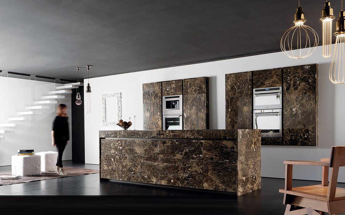 ArchiExpo & Contemporary kitchen / marble / island / handleless - ESSENTIAL ...