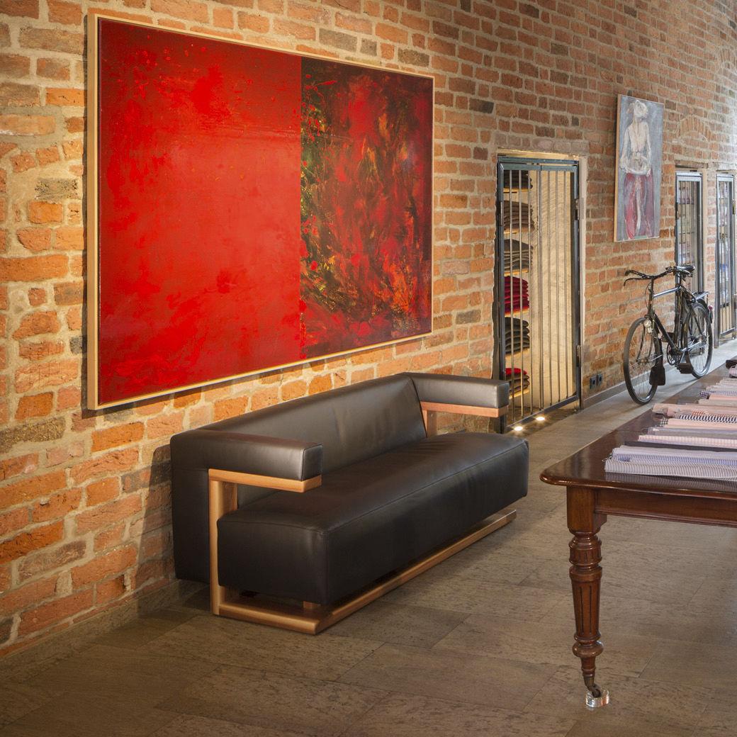 Bauhaus design sofa oak walnut ash F51 2 Tecta