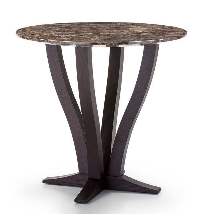 Admirable Contemporary Side Table Marble Metal Base Round Machost Co Dining Chair Design Ideas Machostcouk