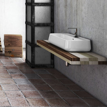 Disegno Ceramica Catino.Walnut Vanity Top With Towel Rack Catino Ct10110000