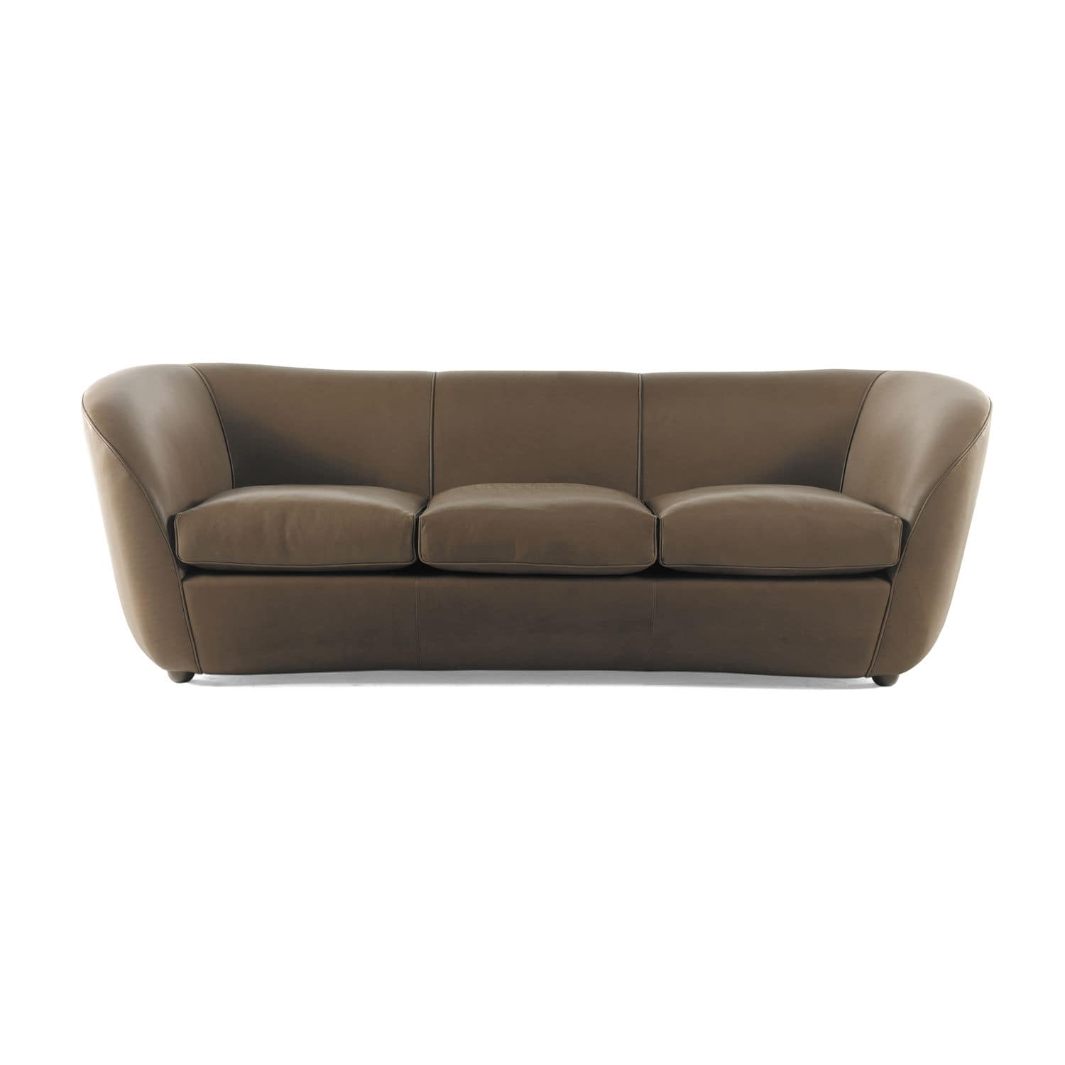 Contemporary sofa velvet leather 2 seater BORBONESE SUITE