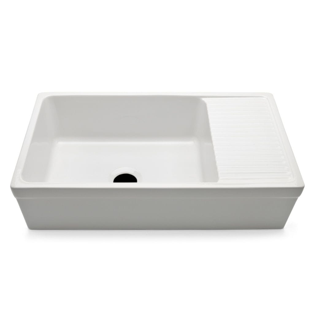 Lavelli X Cucina In Ceramica single-bowl kitchen sink - cask56 - waterworks - ceramic