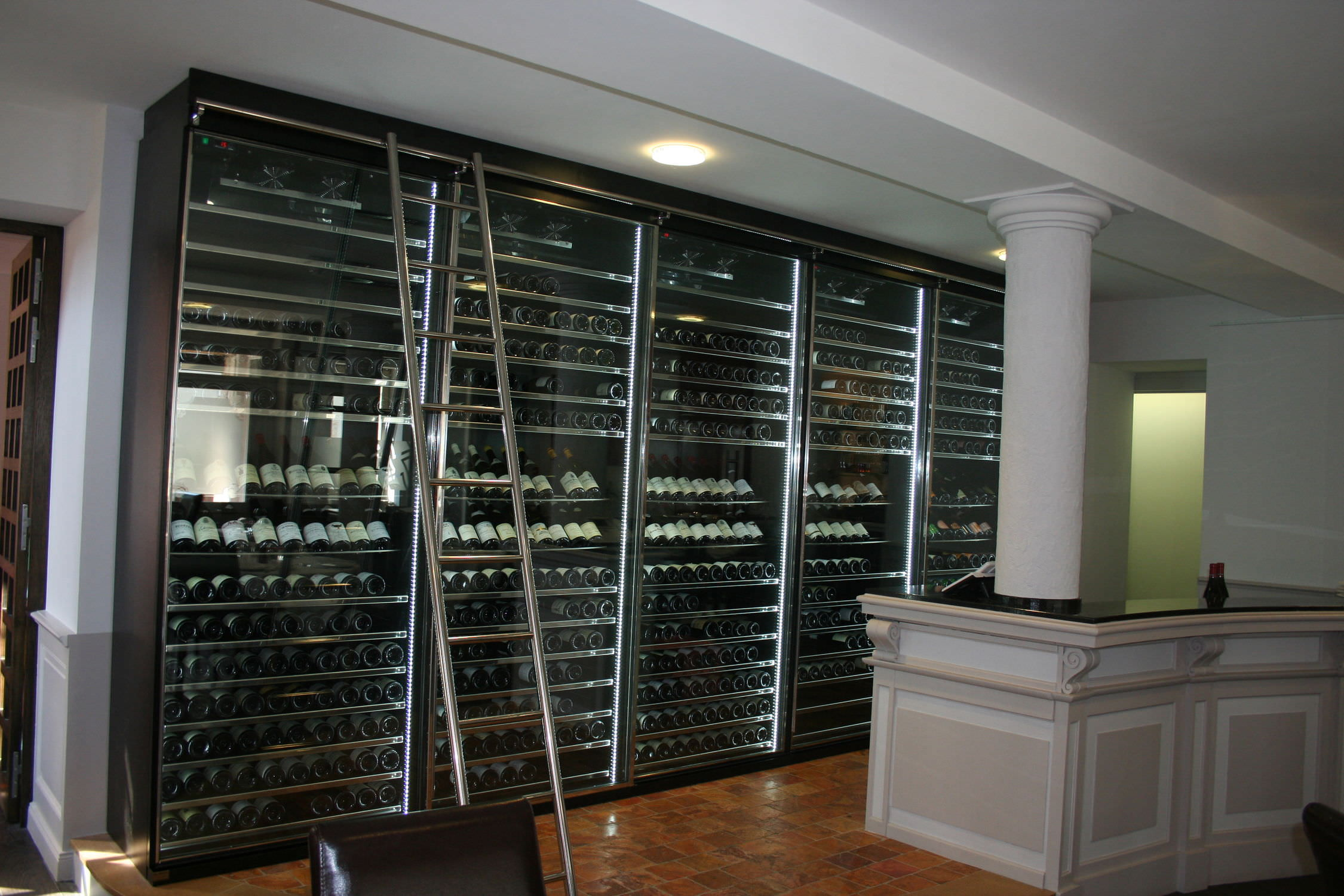 Cave A Vin Design commercial wine cabinet / stainless steel / custom