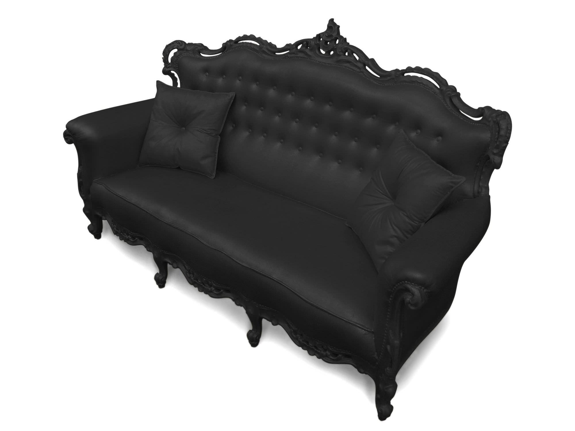 New Baroque design sofa / outdoor / polyurethane foam / 3-seater