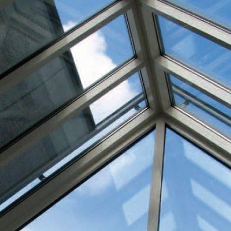 Glass Roof Blinds Topfix Max Renson Roller Fabric Outdoor