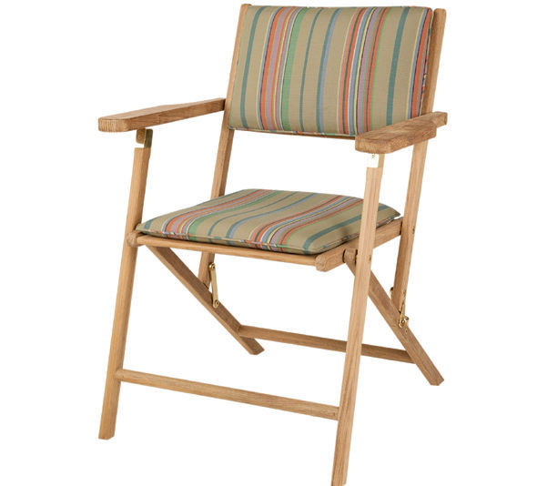 Traditional Chair Folding With Armrests Wooden