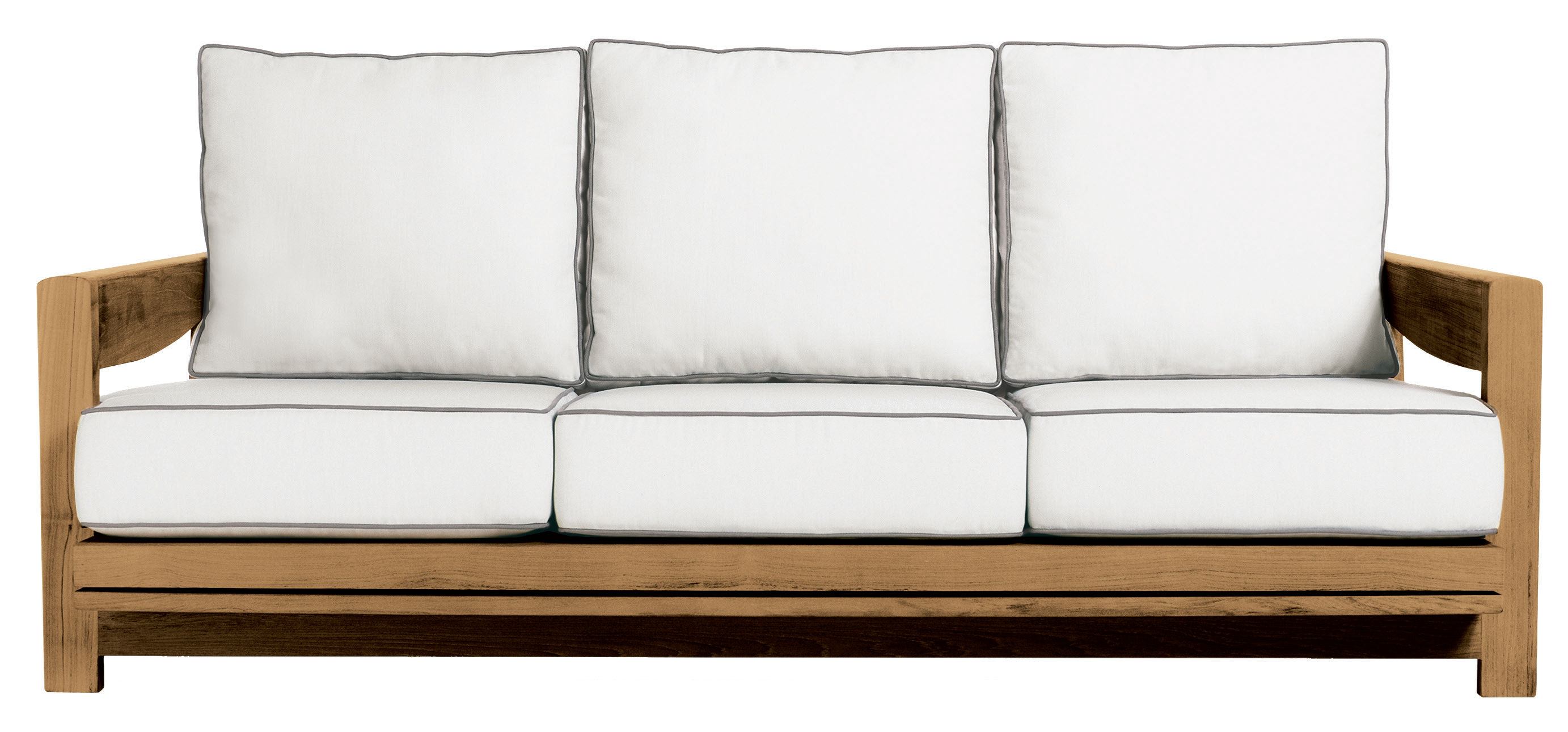 Contemporary sofa garden teak 3 seater PENINSULA by Terry