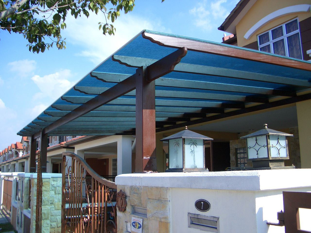 Patio Canopy Polimer Tecnic Polycarbonate Methacrylate Metal