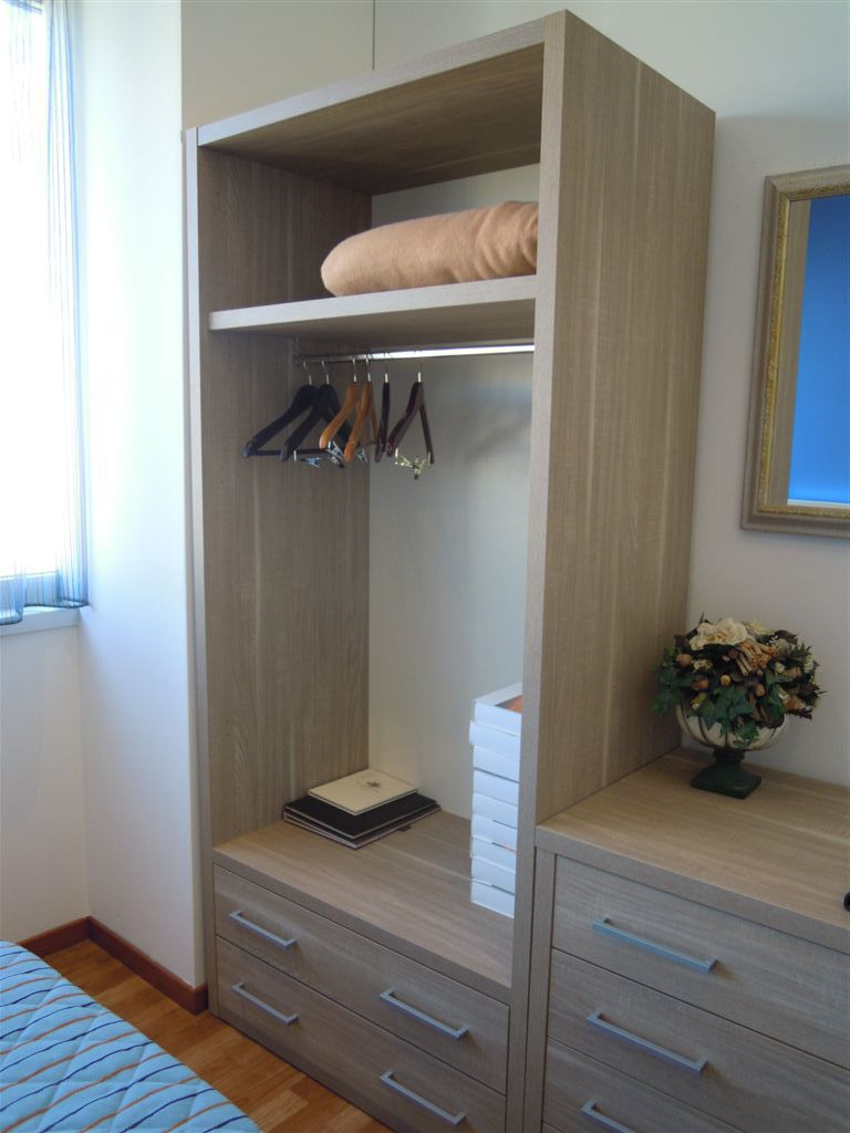 Contemporary wardrobe / wooden / for hotels - HOTEL ROOM