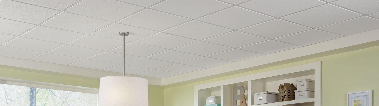 Mineral Fiber Suspended Ceiling Tile Acoustic Flame