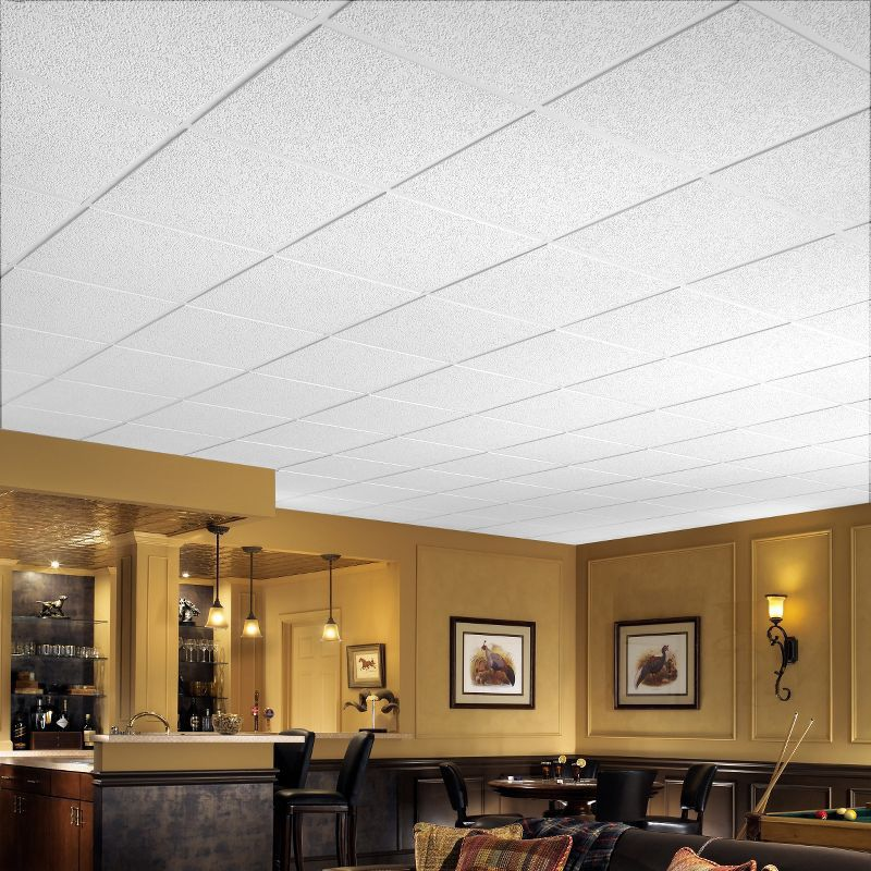 Mineral Fiber Suspended Ceiling Tile Acoustic Flame Retardant Brighton 266 Armstrong Ceilings Usa