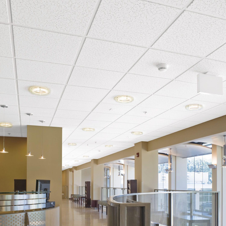 Mineral Fiber Suspended Ceiling Tile Acoustic 100