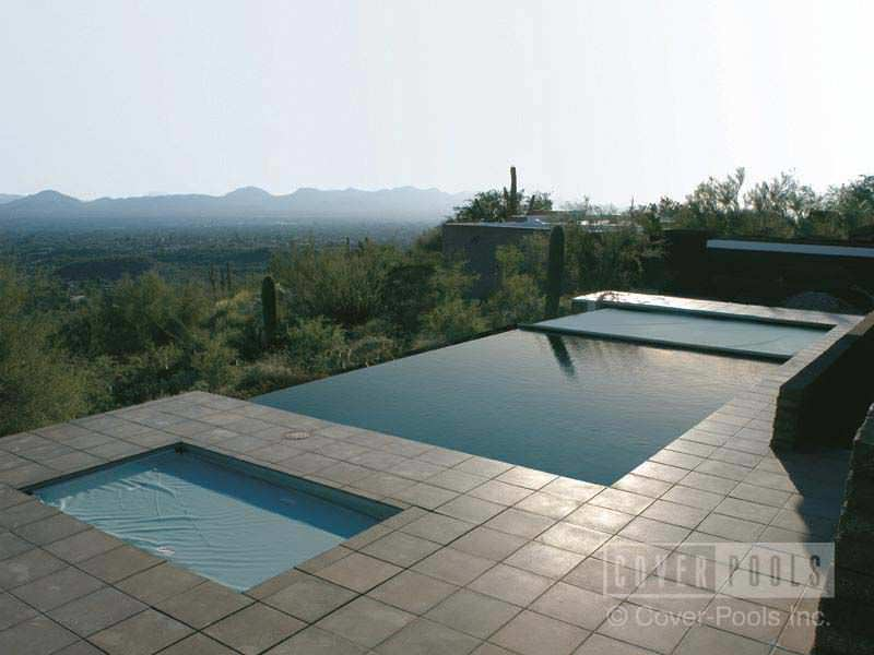 Automatic Swimming Pool Cover Security For Infinity Pools