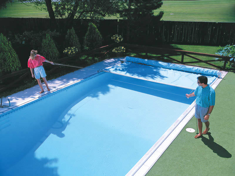 Security swimming pool cover - STEP-SAVER® - COVER POOLS