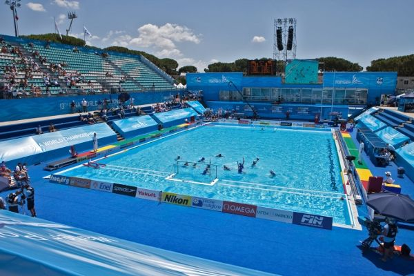 In-ground swimming pool / stainless steel / temporary / outdoor ROME 2009  XIII FINA WORLD CHAMPIONSHIP Myrtha Pools
