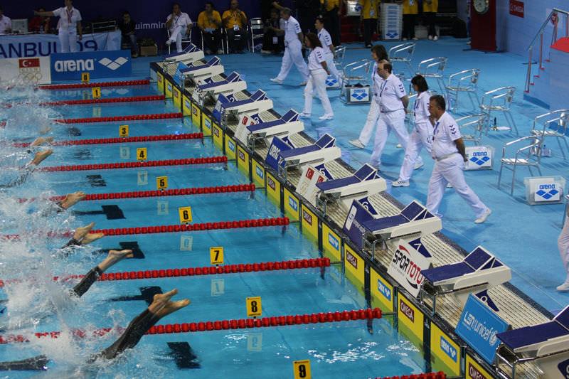 Public pool starting blocks - TRACK-START - Myrtha Pools