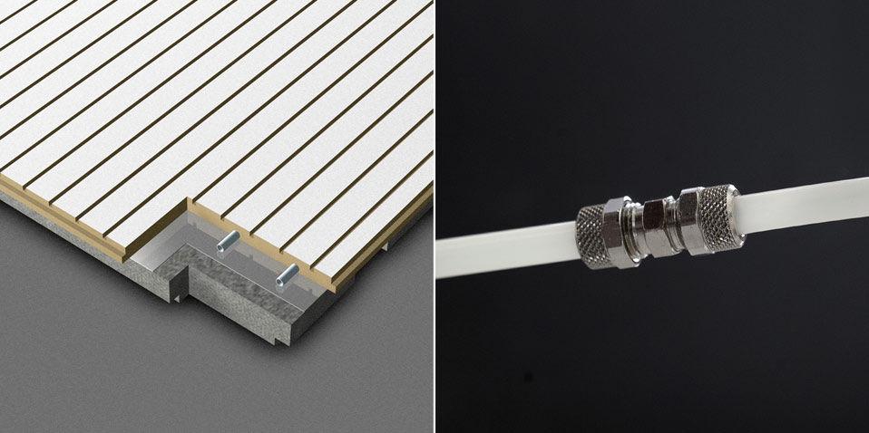 Aluminum suspended ceiling / melamine / MDF / panel - CLIMACUSTIC
