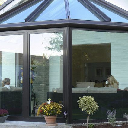 Glass Conservatory Aluminum Clima Sunroom Tender Group