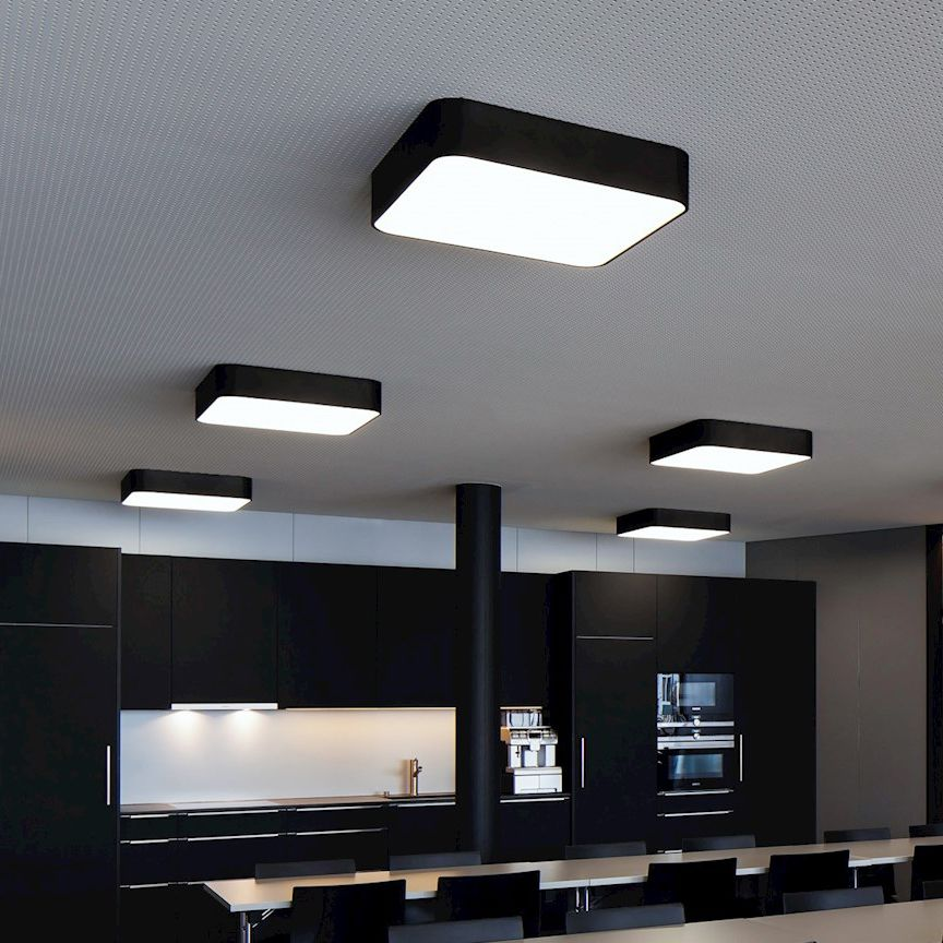 Surface Mounted Light Fixture Led Square Metal