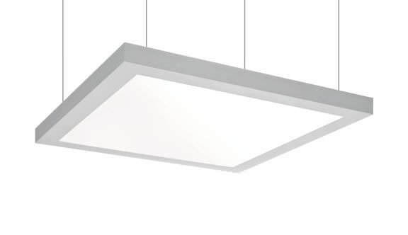 Hanging Light Fixture Fluorescent Square Aluminum