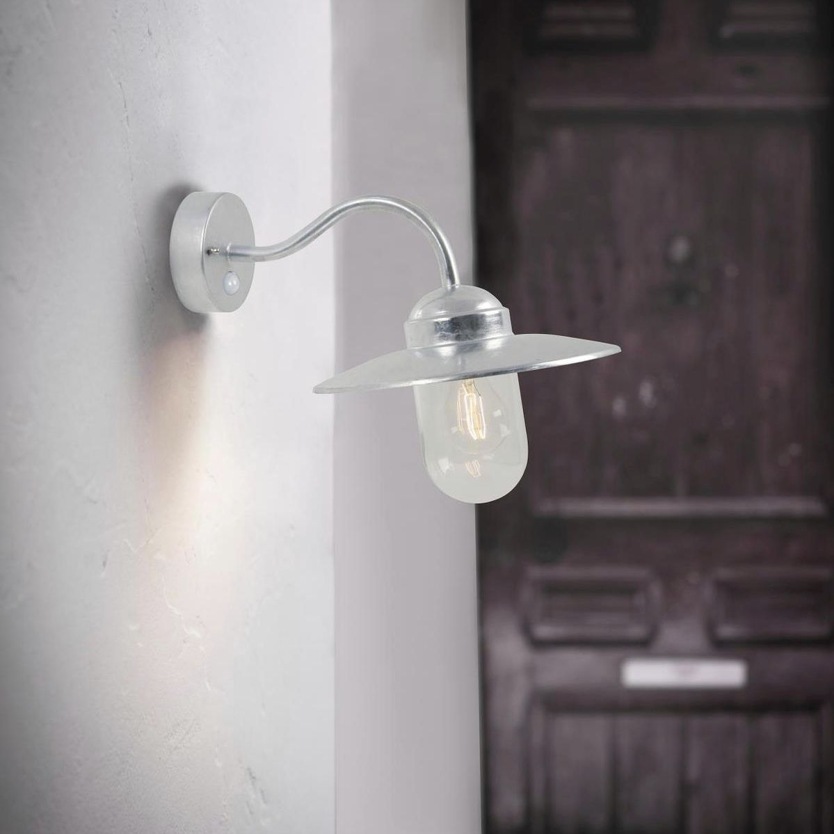 Traditional Wall Light Outdoor Galvanized Steel Led Luxembourg