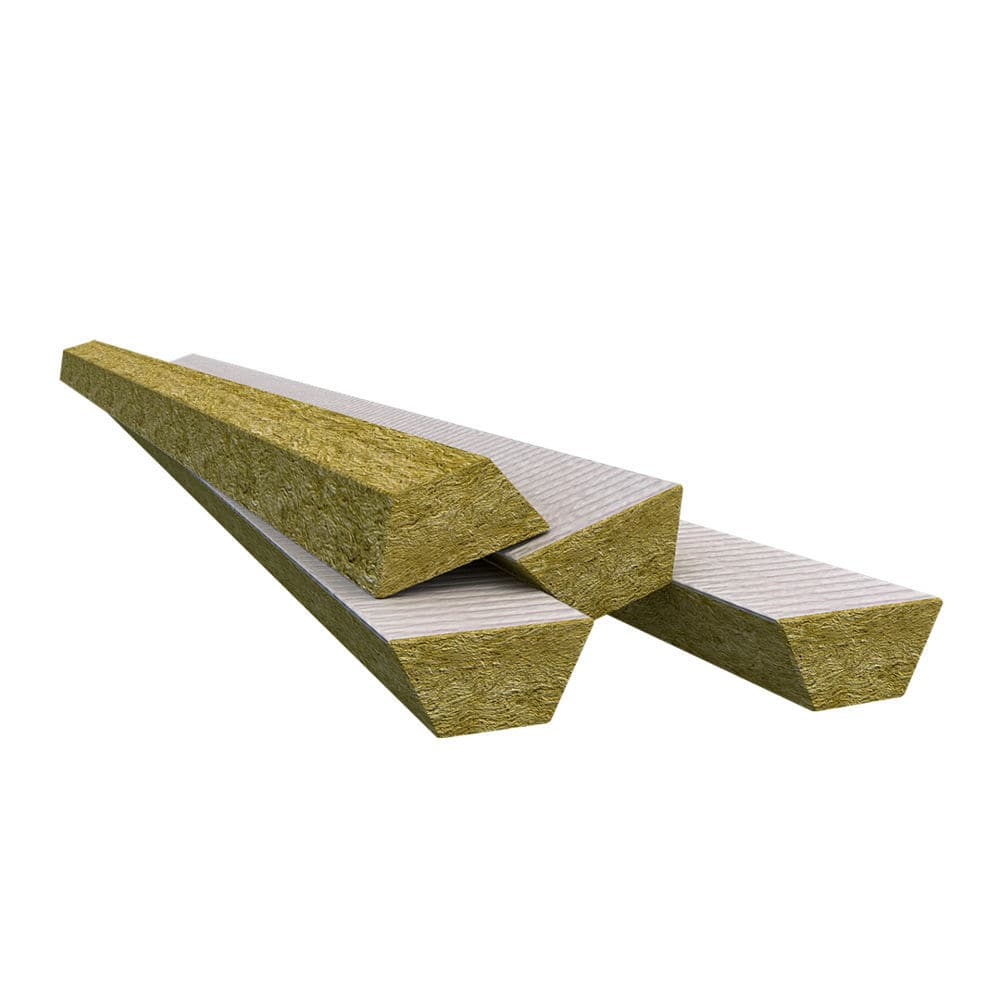 Thermal insulation / stone wool / for flat roofs / panel