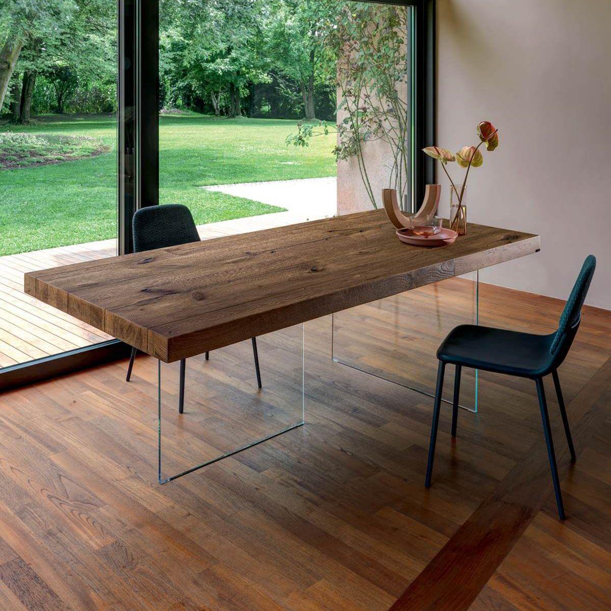Tavolo Lago Air.Contemporary Table Glass Laminate Glass Base Air Lago