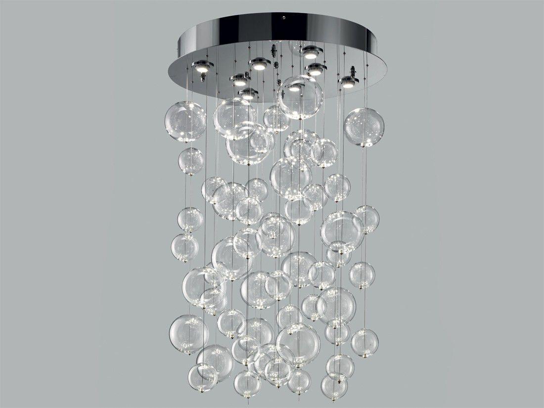 Contemporary Ceiling Light Round Gl Metal Bolero