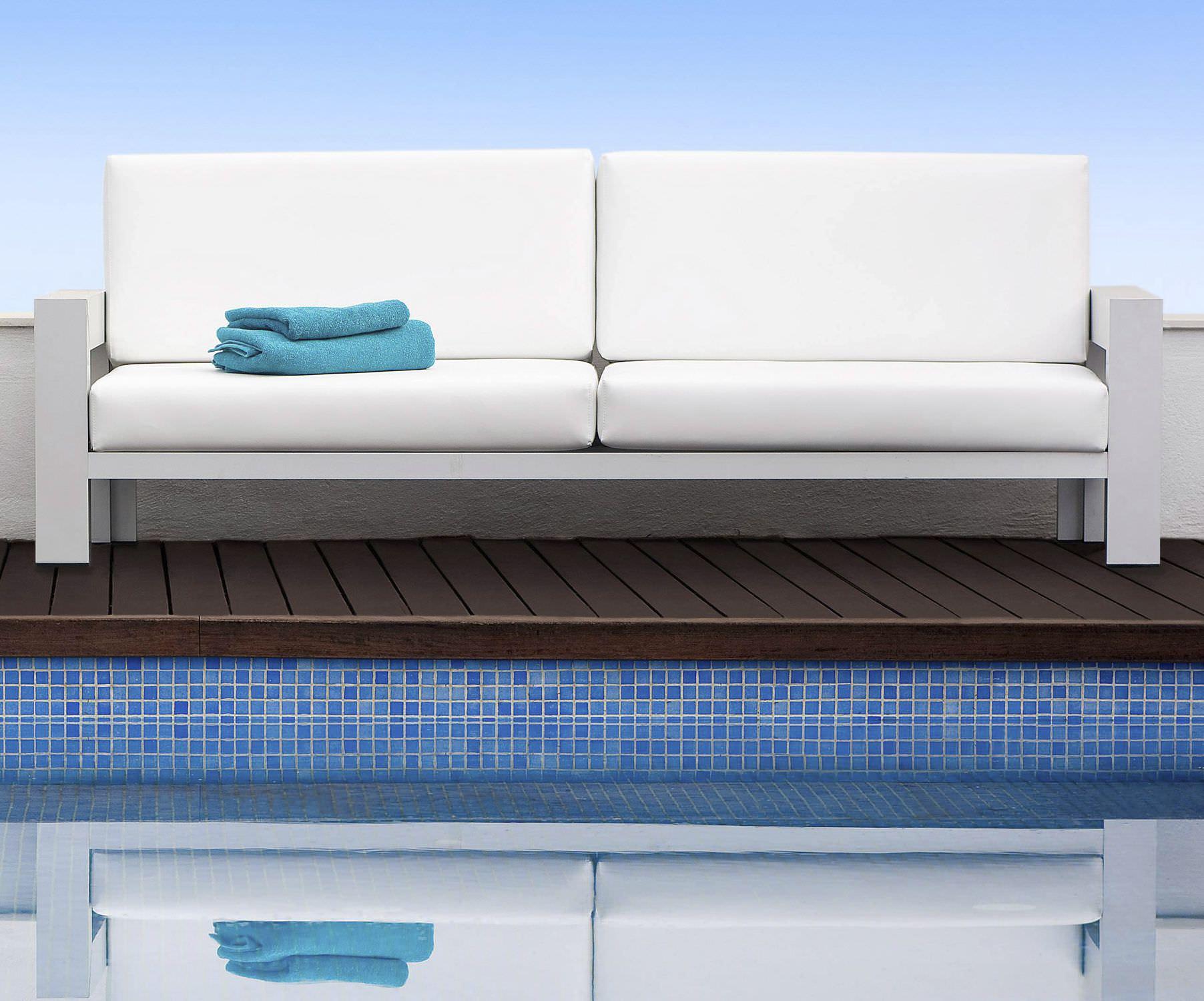 Contemporary Sofa Garden Fabric 3 Seater Laguna Blue 3  # Muebles Tadel Grup