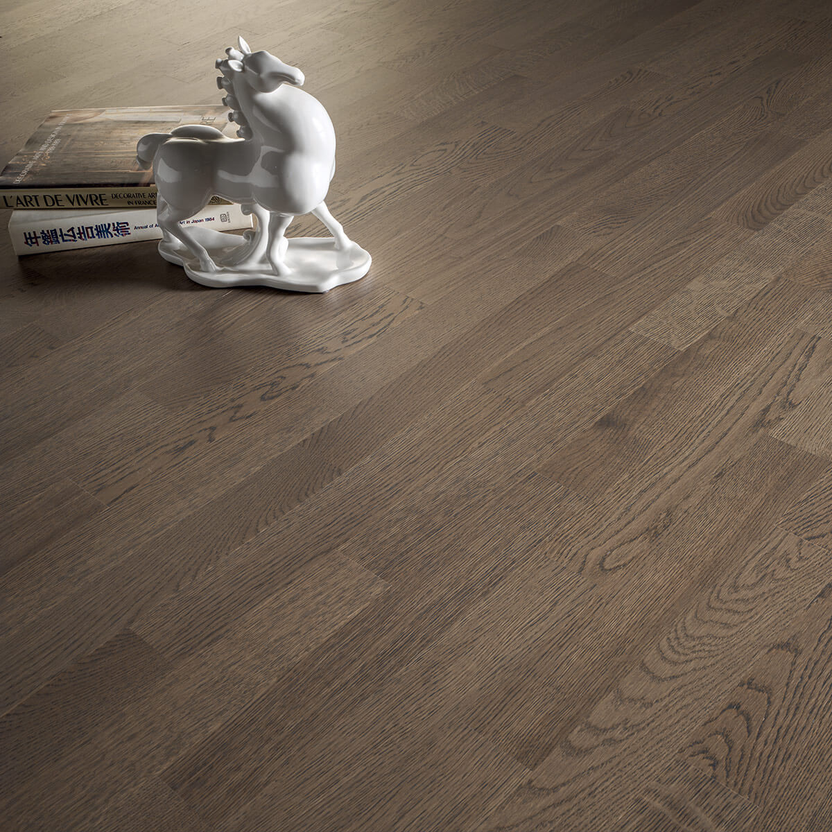 Piece A Vivre Parquet solid parquet floor / glued / brushed / varnished - premass
