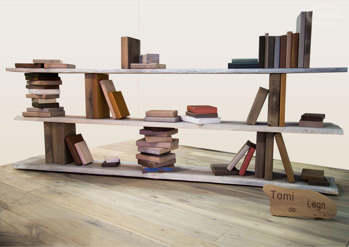 Low Bookcase Contemporary Solid Wood Tomi De Legn