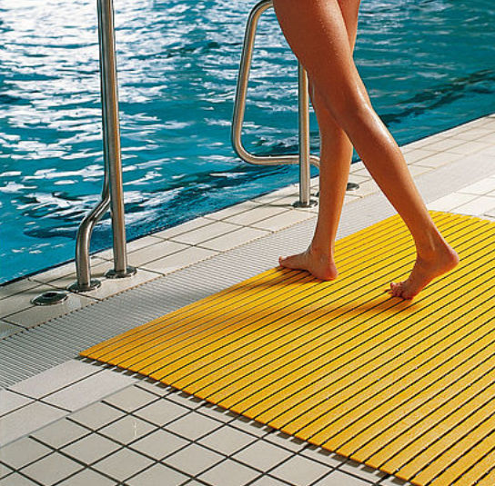 PVC grating / for showers / for swimming pools / for ...