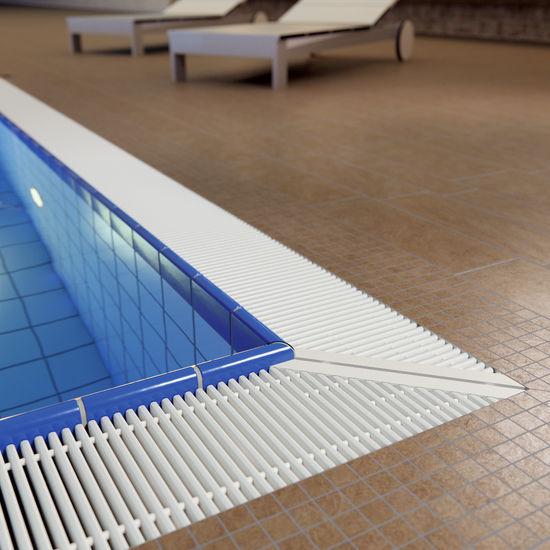 Plastic overflow grating - CORNER - emco Bautechnik GmbH - pool