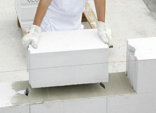 Cellular concrete block / for walls / insulated / thermal