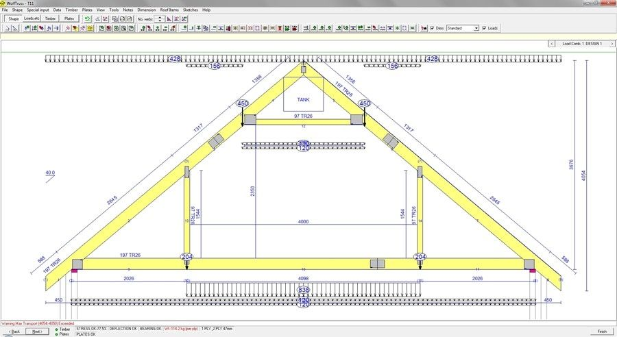 Drawing Software Truss Design Wolfsystem Drawing Architecture For Steel Structures