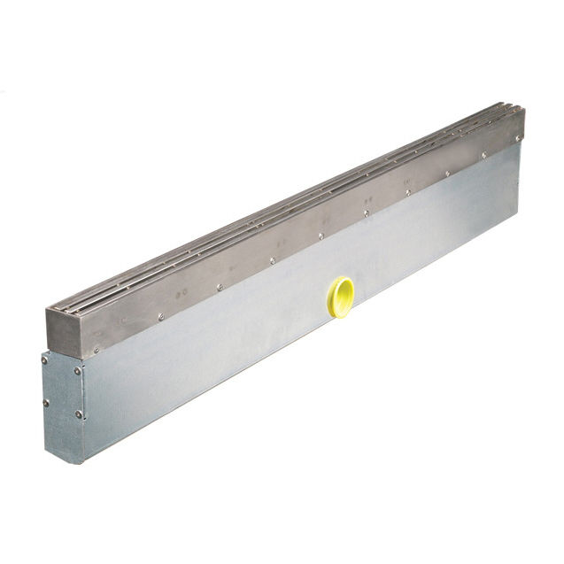 Stainless steel drainage channel / with grating / slot