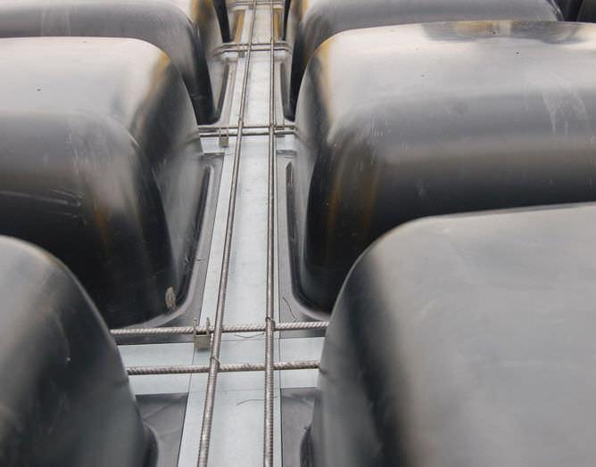 Modular formwork / plastic / for floors - SKYDOME® - GEOPLAST