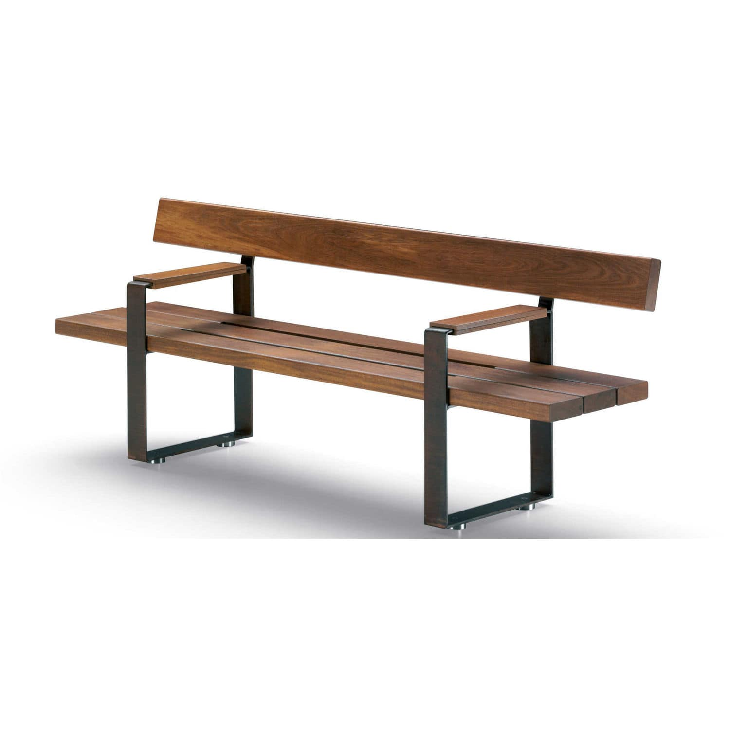 Picture of: Public Bench Bull Metalco Contemporary Wooden Metal