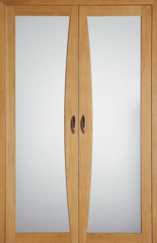 Closet Door Sliding Oak Glazed Design Tramontane